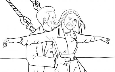 Colouring Book featuring Harry and Meghan