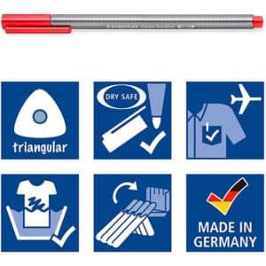 STAEDTLER 334 Triplus Fineliner Superfine Point Pens,