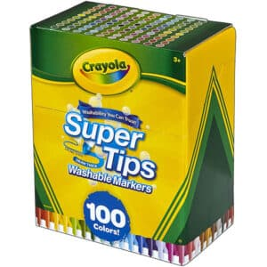 Crayola Super Tips Washable Markers Pack of 100,