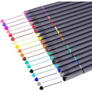 iBayam 18 x Assorted Colors Fineliner Pens